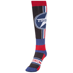 ONeal Pro MX Socks Afterburner-black/blue/red